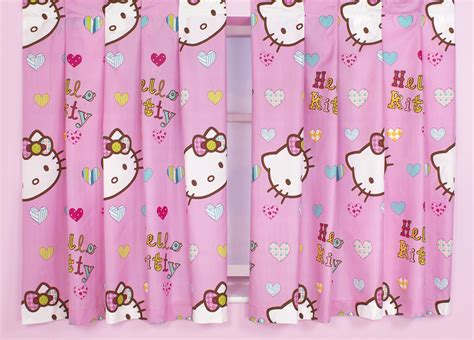 hello kitty drapes hello kitty pink curtains 66 quot x 54 quot 66 quot x 72 quot drop girls