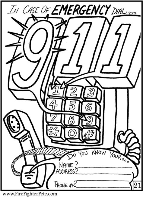 Smoke Detectors Fire Safety Coloring Contest Coloring Pages 911 Coloring Pages Preschoolers