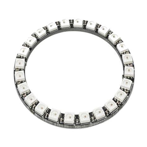 Diskon Pcb Ring 12 Led 5 Cm ldtr y00024 ws2812b 5050 led smart rgb ring 66mm 24 bit for arduino black alex nld