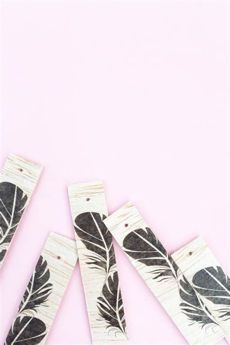 tattoo paper to wood diy feather wood tagsmaritza lisa