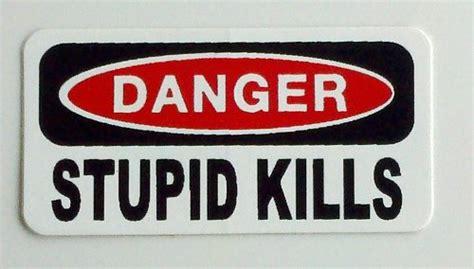 Sticker Smartphone Decal Smartphone Halloweeks 07 3 danger stupid kills hat helmet stickers 1 x 2