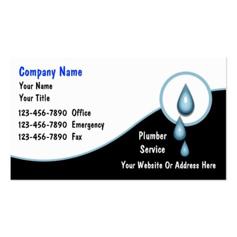 Plumbing Business Card by Plumbing Business Cards