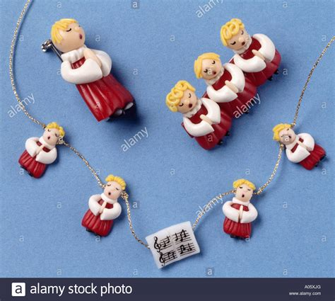 close up of fimo christmas decorations stock photo