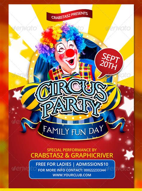 23 Circus Flyer Templates Free Premium Psd Vector Eps Downloads 12 Days Of Flyer Template