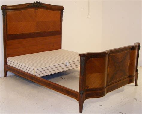 Walnut Bed Frame An Antique Mahogany And Burr Walnut Bed Frame Melford Antiques Centre