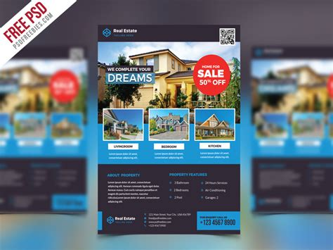 real estate flyer psd free template psdfreebies