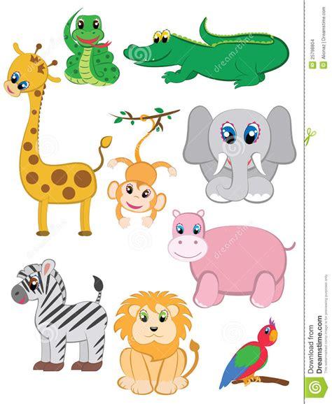 imagenes de animales la selva animales de la selva fijados ilustraci 243 n del vector