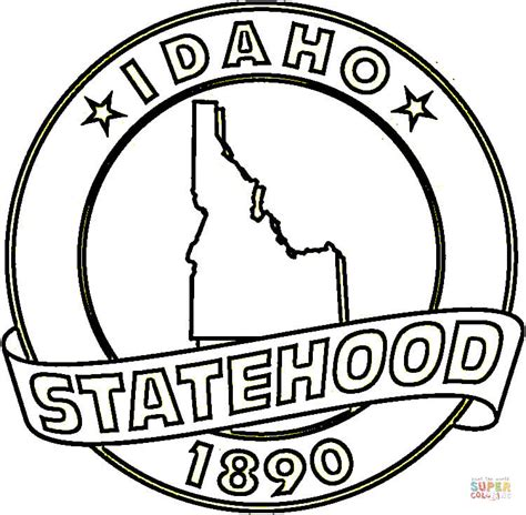 idaho state coloring page free printable coloring pages