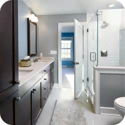 bathroom remodel ideas gray frameless shower subway tile grey bathrooms terrys fabrics blog
