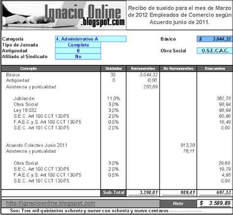 sueldo empleado de comercio marzo 2016 recibo de sueldo de comercio junio 2015 html autos post