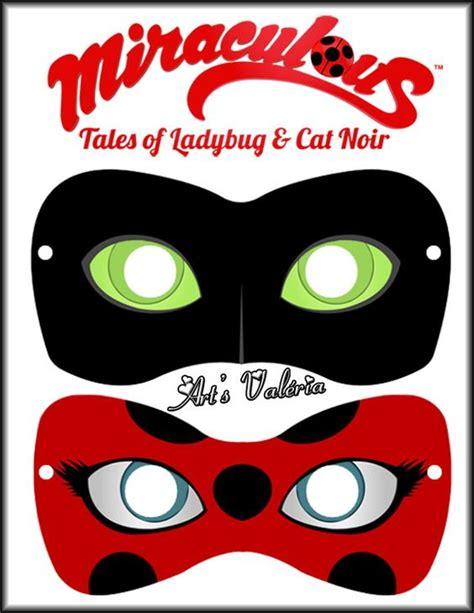 printable ladybug mask m 225 scara miraculous ladybug ou cat noir miraculous