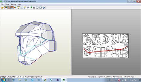 Halo Helmet Papercraft - papercraft halo helmet part 1 wherethesnowfalls