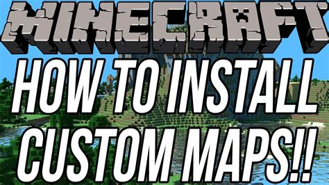 how to install custom maps in minecraft how to install custom maps in minecraft 1 7 9 youtube