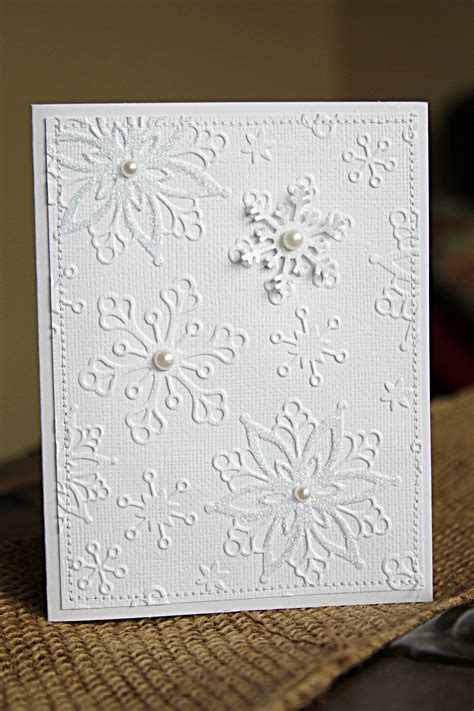 Handmade Card - handmade cards tutorial with white on white