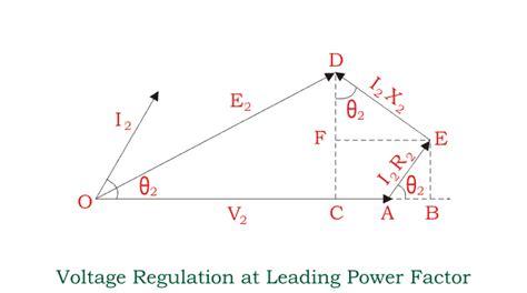 power factor correction voltage regulation voltage regulation of transformer