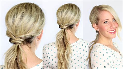 how to do zelf hairstyles woven ponytail youtube