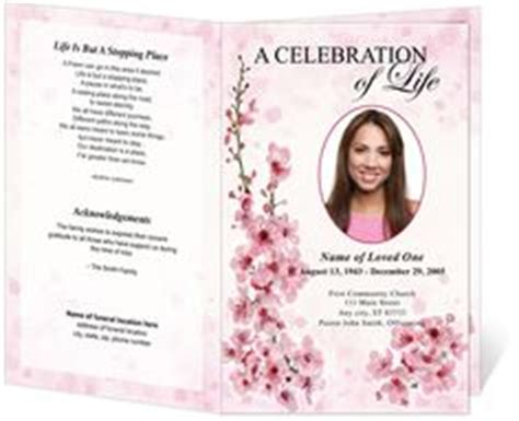 bi fold memorial card template pages 1000 images about creative memorials with funeral program
