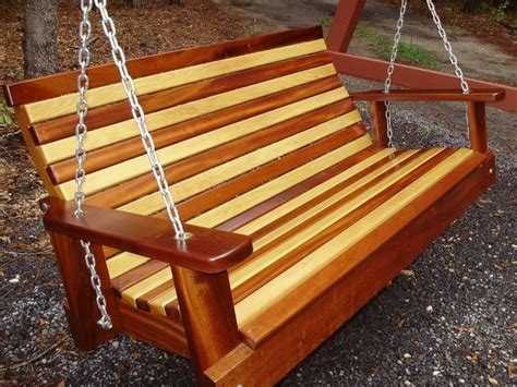 shade tree mahogany and cypress swing contemporary