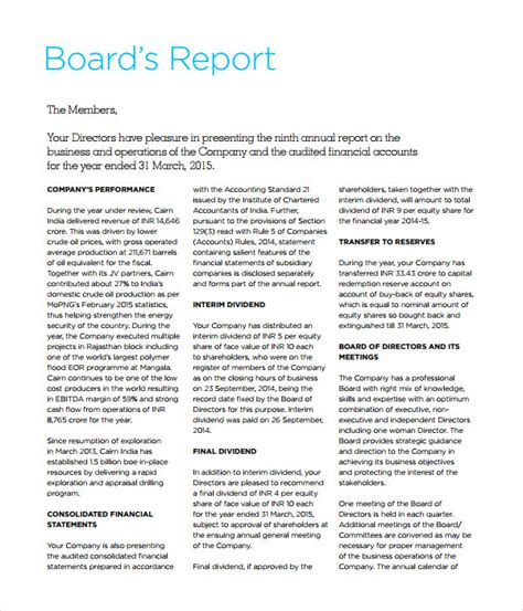 board report templates 25 report templates free word pdf documents