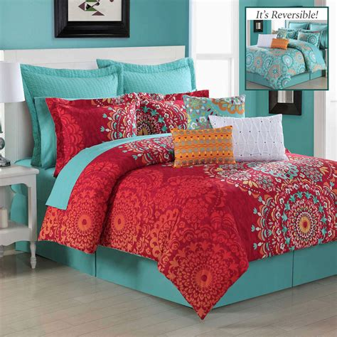 red bed comforter cozumel reversible dark red comforter bedding by fiesta