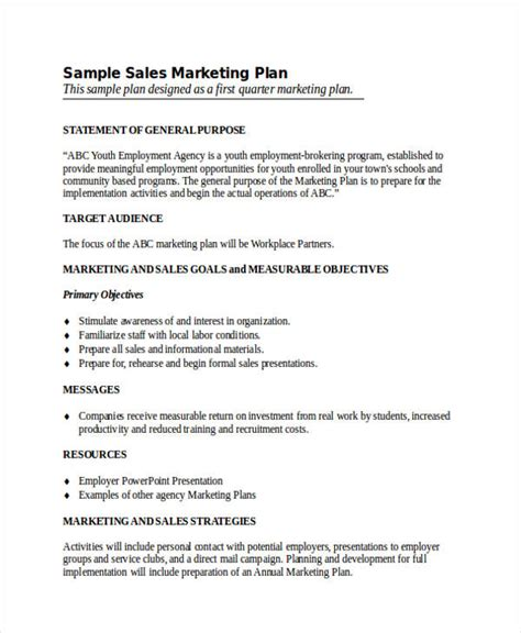 Sales And Marketing Plan Integrated Sales And Marketing Plan Framework Sales Marketing Plan Sle Marketing Plan Template