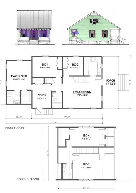 katrina cottage floor plans the katrina cottage model 1807