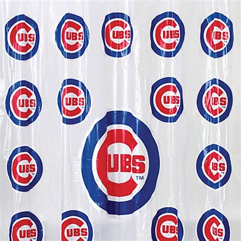 Mlb Chicago Cubs 72 Inch X 72 Inch Pvc Frosted Shower
