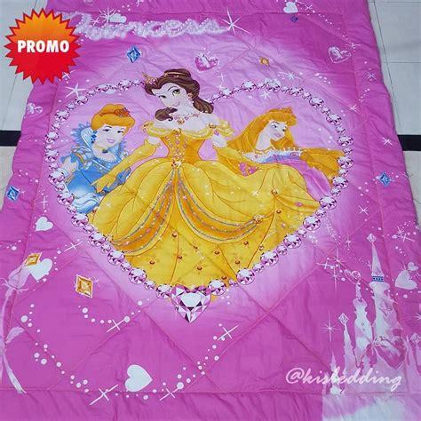 Sprei Katun Halus Motif Princess Ukuran 160x200180x200 Sprei Anak Disney Princess Kisbedding