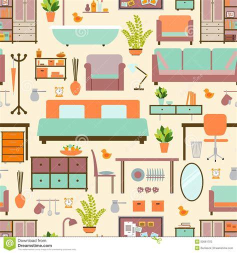 muebles la casa modelo de los muebles de la casa ilustraci 243 n vector