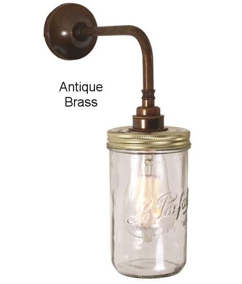 glass wall light in jam jar design