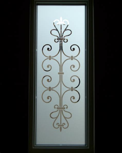 Frosted Glass Entry Window Ironwork Design Lovely Lovely Glass Door Etching Designs