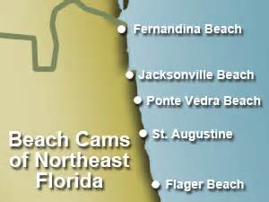map of northeast florida beaches cams in northeast florida from st augustine