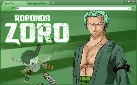 Theme Chrome Zoro | one piece chrome theme roronoa zoro revised by