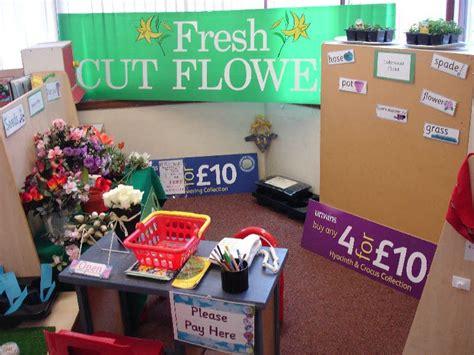 garden centre role play area classroom display photo