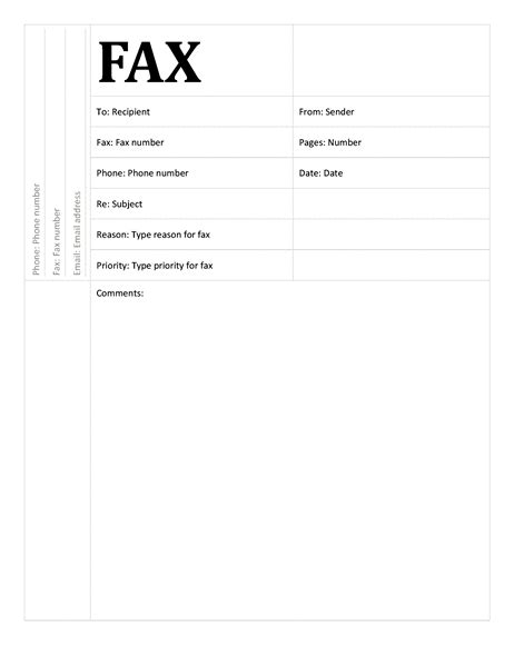 Fax Cover Sheet Academic Design Fax Transmittal Cover Sheet Template