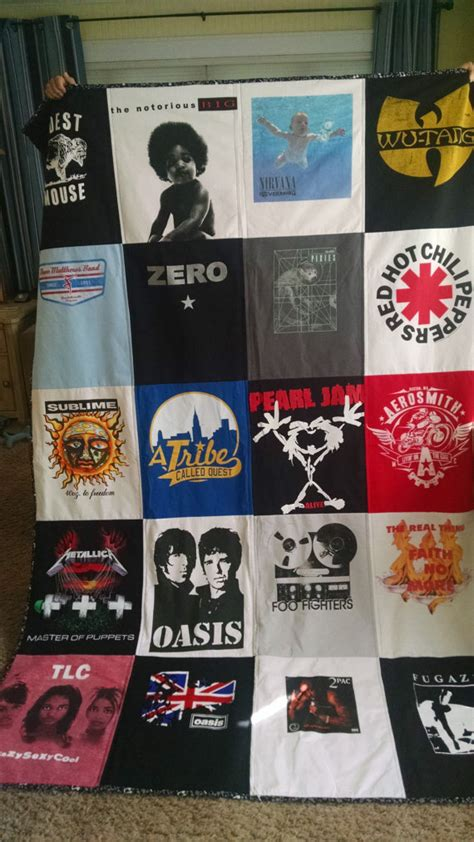 Concert T Shirt Quilt by Memory Quilt Tshirt Quilt T Shirt Quilt Custom Quilt