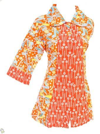 Baju Branded Wanita Attention Blouse Orange store co id baju wanita blus nayla orange batik oranye xl