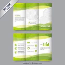 eco modello di brochure di colore verde scaricare