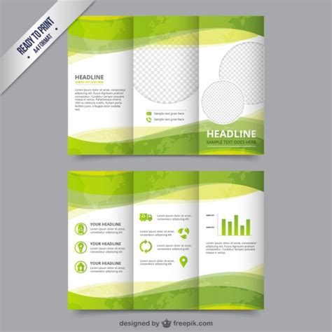 free brochure psd templates eco brochure template in green color vector free