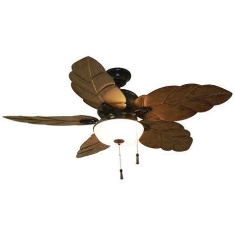 Home Depot Leaf Ceiling Fan by Home Decorators Collection Palm Cove 52 In Iron