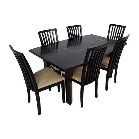 Dining Table And Six Chairs 90 Skovby Skovby Sm 24 Dining Table With Butterfly Extensions And Six Chairs Tables