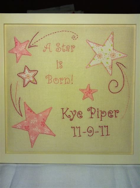 Handmade Birth Announcements - 51 best images about embroidery ideas on