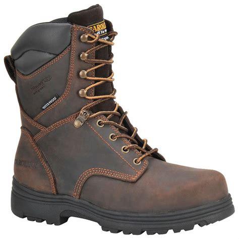 carolina mens work boots s carolina 174 svb 8 quot waterproof 400 gram thinsulate