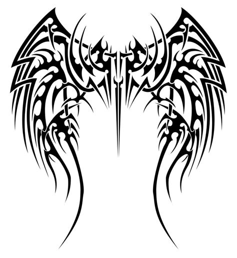 tattoo tribal wings designs angelic tribal wings by insomnia maniac on deviantart
