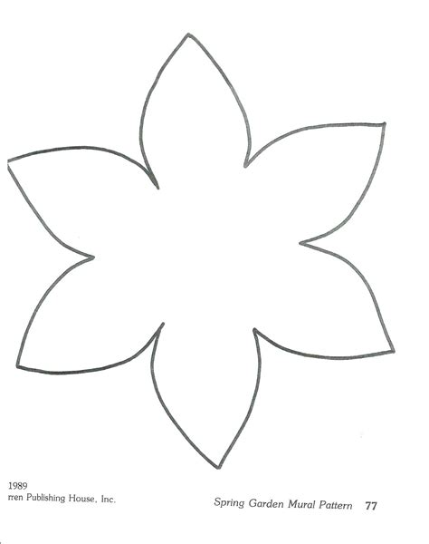 template of a daffodil printable printable stencil template