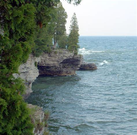 Door County Wis by Cave Point Door Co Wisconsin