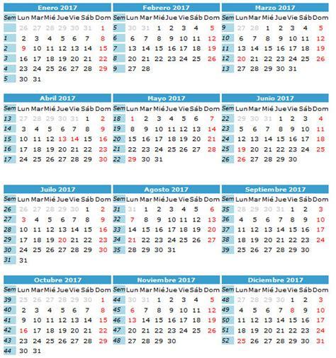 Calendario Octubre 2017 Excel Calendario 2017 Calendarios 2017 Para Imprimir