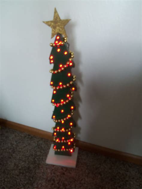 led lighted wooden christmas tree christmas crafts diy