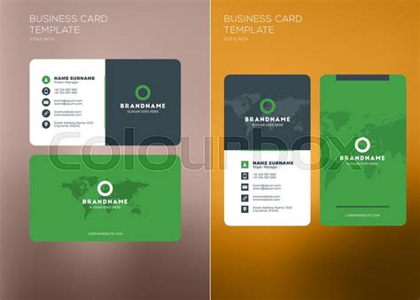 horizontal business card template corporate business card print template personal visiting