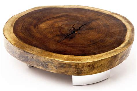 Mesas Rusticas de madeira crua na decoração